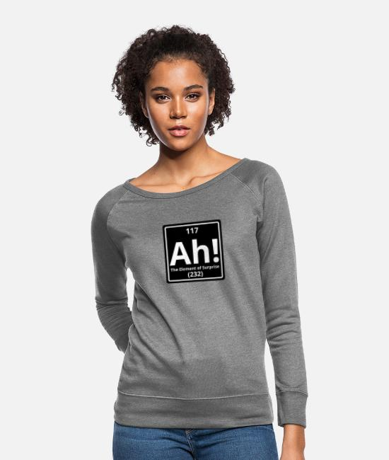 Meme Hoodies & Sweatshirts - ah element of surprise - Women's Crewneck Sweatshirt heather gray
