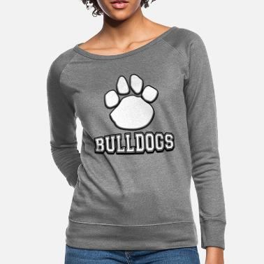 Mascot Bulldogs Paw Print Back To School Mascot - Women's Crewneck Sweatshirt