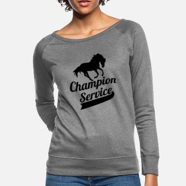 Tournament Jerk Champion Service Tournament Riding Equestrian - Women's Crewneck Sweatshirt