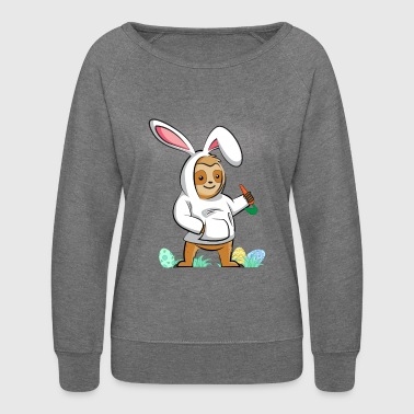 BUNNY SLOTH CARROT - Women's Crewneck Sweatshirt