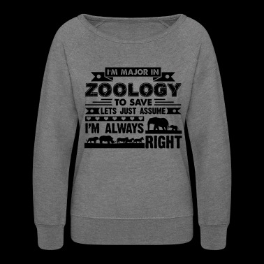 Zoology Shirt - I'm Major In Zoology T shirt - Women's Crewneck Sweatshirt