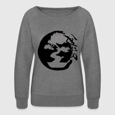 Bonsai Tree Design Shirt - Women's Crewneck Sweatshirt