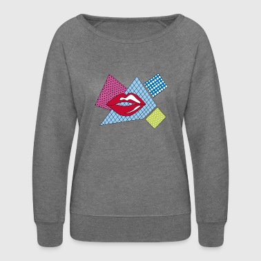 lips pop art - Women's Crewneck Sweatshirt