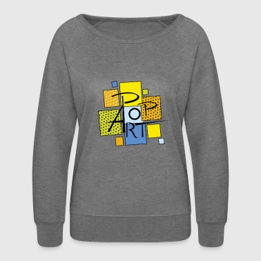 pop art square - Women's Crewneck Sweatshirt