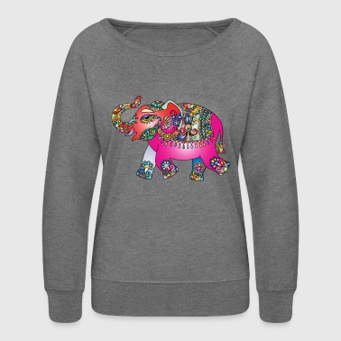Elephant colourful - Women's Crewneck Sweatshirt