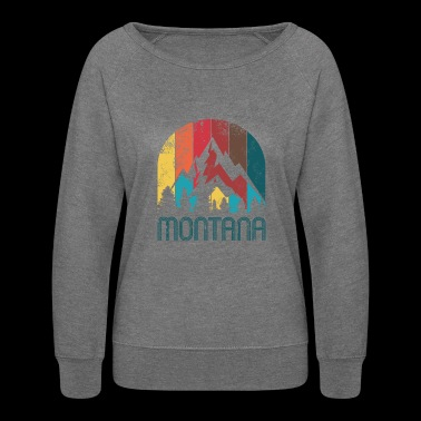 Retro Montana Design for Men Women and Kids - Women's Crewneck Sweatshirt