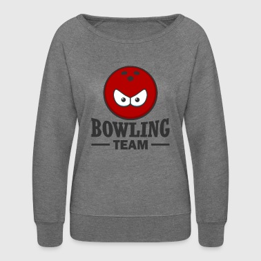 bowling team - Women's Crewneck Sweatshirt
