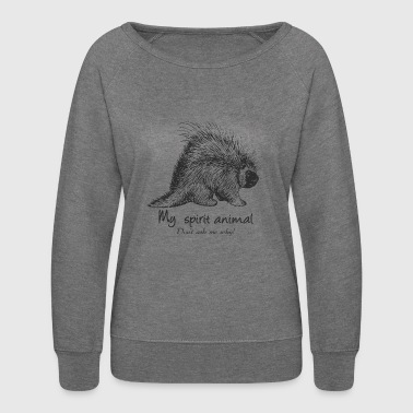 Porcupine Spirit Animal - Women's Crewneck Sweatshirt