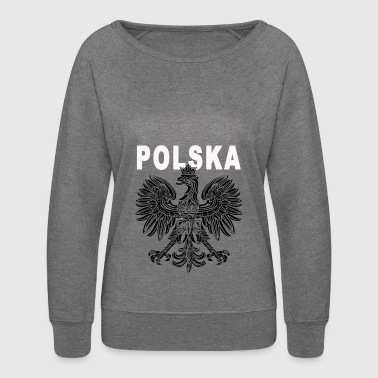 Polska National Eagle Deluxe - Women's Crewneck Sweatshirt