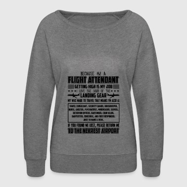 I'm A Flight Attendant Shirts - Women's Crewneck Sweatshirt