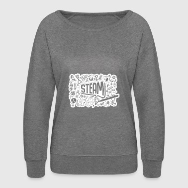 STEAM Thought Cloud Science Engineering Art STEM - Women's Crewneck Sweatshirt