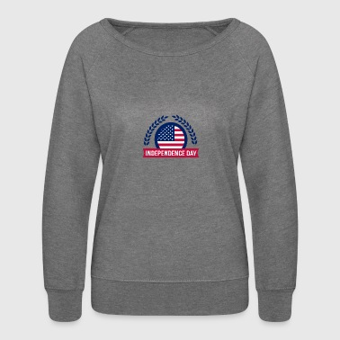 Fourth of July Independence day - Women's Crewneck Sweatshirt