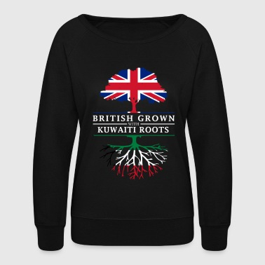 British British Grown with Kuwaiti Roots Kuwait Design - Women's Crewneck Sweatshirt