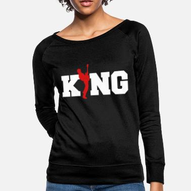Bass Guitar King-Bassist-Rock Music Band Gift - Women's Crewneck Sweatshirt