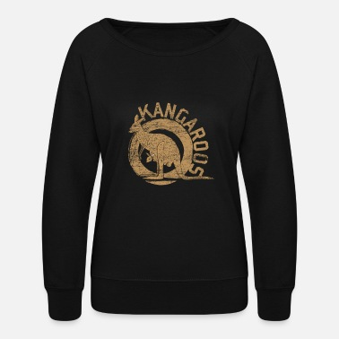 Marsupial Kangaroo Animal Australia Backpacker Marsupial Sun - Women's Crewneck Sweatshirt