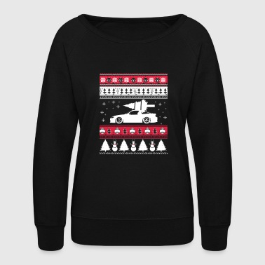 Ugly Christmas sweater for car lover - Women's Crewneck Sweatshirt