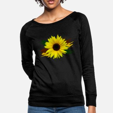 sunflower, sunflowers, flower, bloom, floral petal - Women's Crewneck Sweatshirt