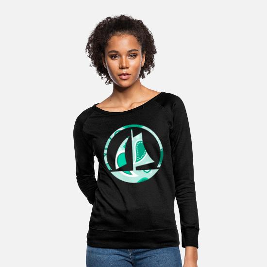 Waves Hoodies & Sweatshirts - sailing boat - Women's Crewneck Sweatshirt black