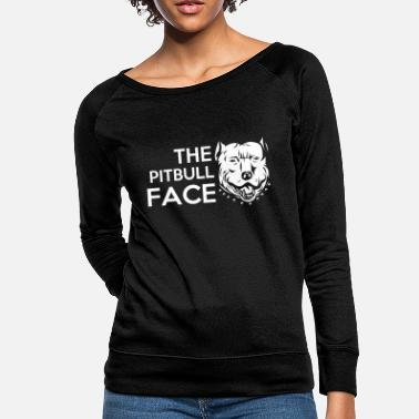 The Pitbull Face - Women's Crewneck Sweatshirt