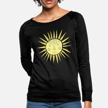 Sun sun face - Women's Crewneck Sweatshirt