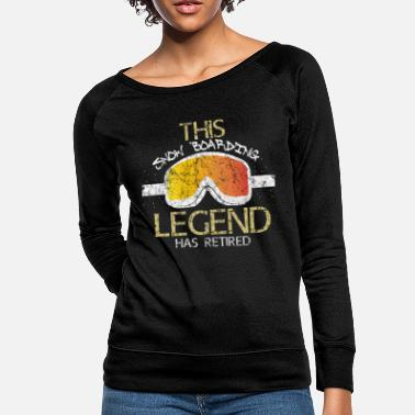 Pensioner Pension snowboard - Women's Crewneck Sweatshirt