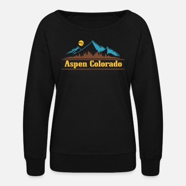Aspen Native Colorado Gifts CO Pride State Flag Aspen - Women's Crewneck Sweatshirt