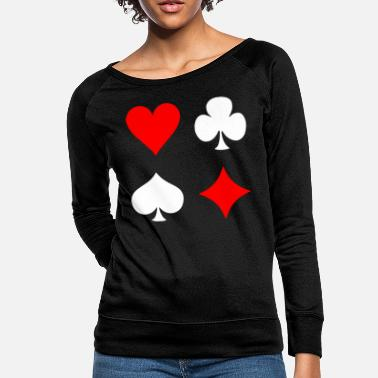 Pik Poker Cross Pik Heart Check - Women's Crewneck Sweatshirt