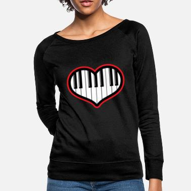 Piano Piano gift piano and grand piano - Women's Crewneck Sweatshirt