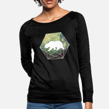 Geometry baer braunbaer nature forest geometry - Women's Crewneck Sweatshirt