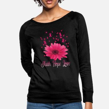 Breast Pink Ribbon Breast Cancer Awareness Love Gift - Women's Crewneck Sweatshirt