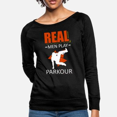 Stunt Parkour Sport Cool Runner Parkour Traceure Runner - Women's Crewneck Sweatshirt