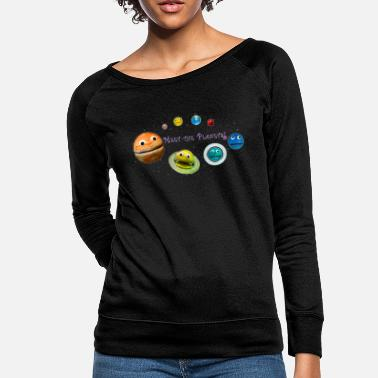 World Meet the Planets! - The Nirks - (with Pluto) - Women's Crewneck Sweatshirt