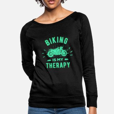 Girlfriend Motorcycle for Biker Motorcyclists bicycle - Women's Crewneck Sweatshirt
