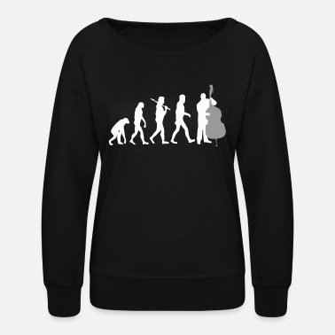 Double Bass Double bass - Double Bass Player Evolution Funny - Women's Crewneck Sweatshirt