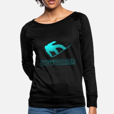 Boarders Jumping Snowboarder Boarder Snow - Women's Crewneck Sweatshirt