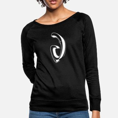 Initial V Graffiti letters initial alphabet gift - Women's Crewneck Sweatshirt