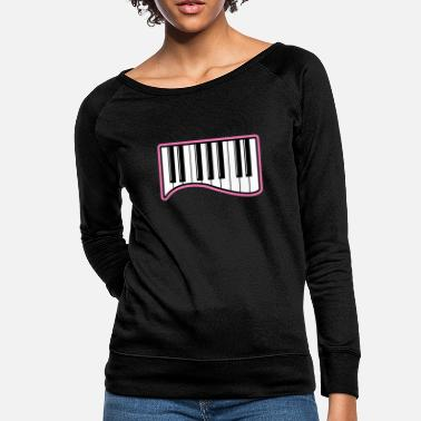 Octave piano gift sound wing music - Women's Crewneck Sweatshirt