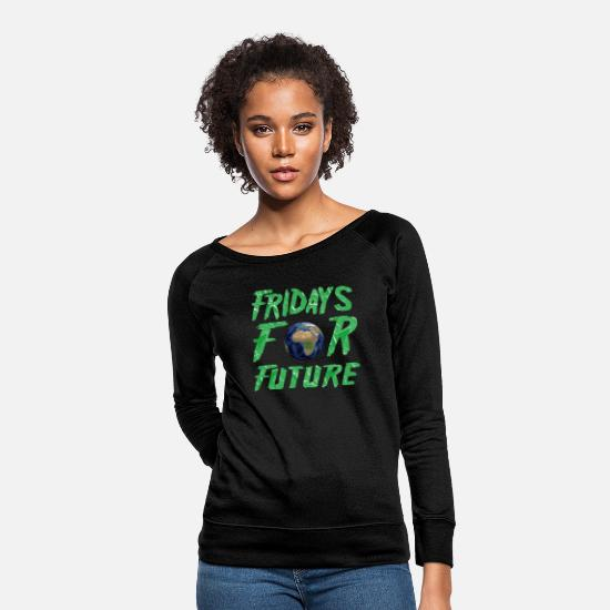 Climate Change Hoodies & Sweatshirts - Fridays For Future demo t shirt there is only one - Women's Crewneck Sweatshirt black