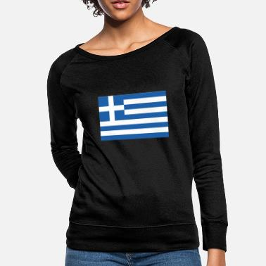 Greece Flag of Greece, Greece flag, flag Greece - Women's Crewneck Sweatshirt