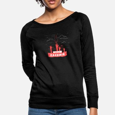 Conflict Stand With Kashmir To Stop This Massacre - Stop - Women's Crewneck Sweatshirt