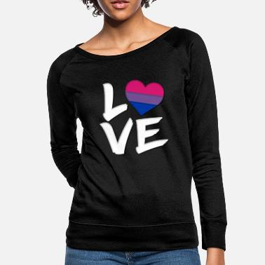 Love Pride Heart Bisexual Flag - Women's Crewneck Sweatshirt