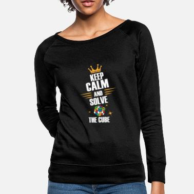 Zauberwürfel Keep Calm, Solve The Magic Cube - Limited Edition - Women's Crewneck Sweatshirt