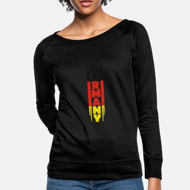 Proud Germany gift red gold black - Women's Crewneck Sweatshirt