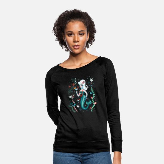 Martini Hoodies & Sweatshirts - Martini Mermaid Blonde - Women's Crewneck Sweatshirt black