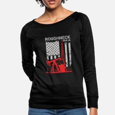 Oil Driller - roughneck - oilfield - oilfield flag u - Women's Crewneck Sweatshirt