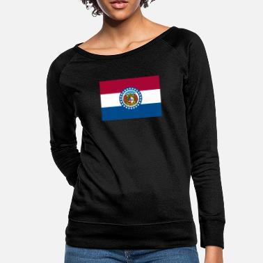 Jefferson Missouri USA flag - Women's Crewneck Sweatshirt