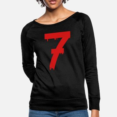 Luck lucky number seven - Women's Crewneck Sweatshirt