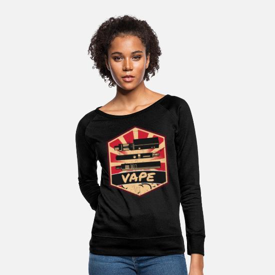 Cloud Hoodies & Sweatshirts - Vape Propaganda - Women's Crewneck Sweatshirt black