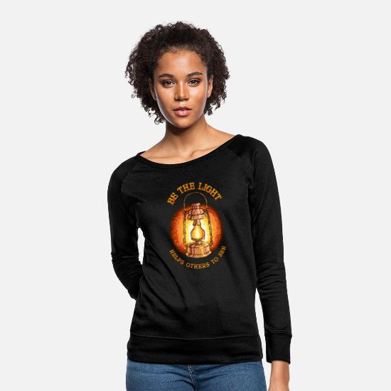 Light Hoodies & Sweatshirts - Be The Light - Women's Crewneck Sweatshirt black
