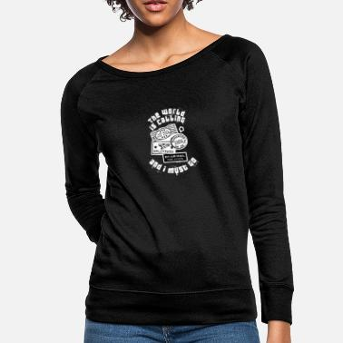 Palm Trees World is calling - travel, backpacker - Women's Crewneck Sweatshirt